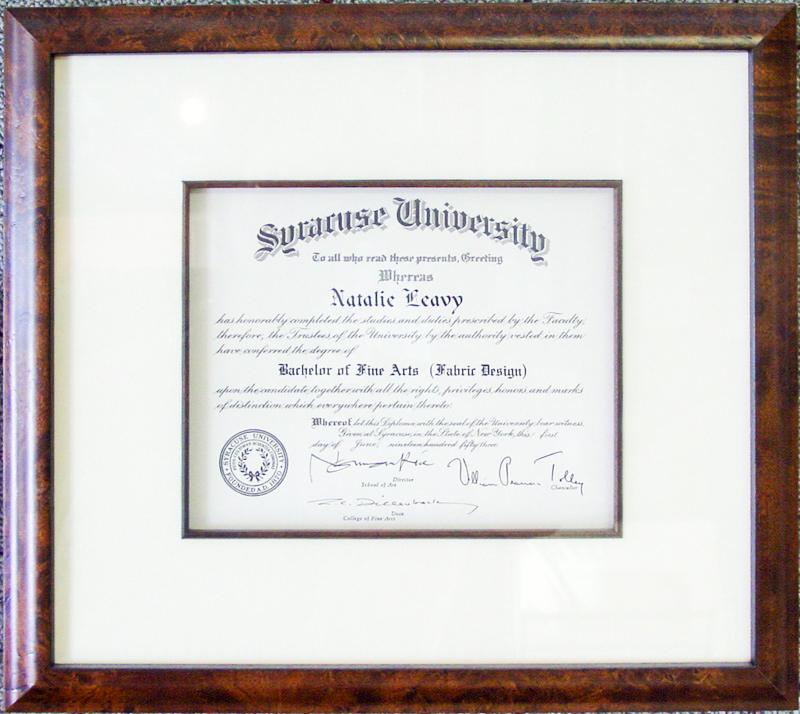 Frame your Diplomas